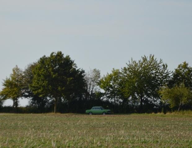 Ein grüner BMW 1502 in freier Wildbahn.